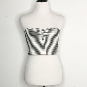 5bf30afeb2 Zara Ribbed Striped Strapless Tube Top Bralette